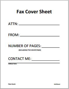 Image Result For Fax Cover Sheet  Fax Sheet Template
