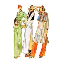 1970s Kenzo Tunic & Palazzo Pants Butterick by JFerrariDesigns, $14.00