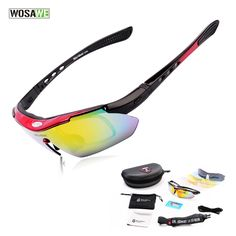 722f5cd651 Bikepro Sportscycling eyewear · WOSAWE Professional Polarized Cycling  Glasses Bike Goggles Motocross Bicycle Sunglasses UV 400 With 5 Lens Review