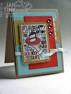 Let's Go Eat Cake Birthday Card by JanTink on Etsy, $5.95