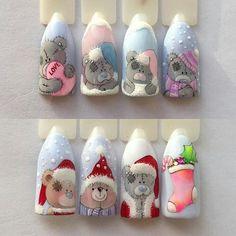 88 Wonderful DIY Christmas Nail Art Ideas for Girls - Christmas nails Diy Christmas Nail Art, Xmas Nail Art, Xmas Nails, Winter Nail Art, Christmas Nail Designs, Winter Nail Designs, Holiday Nails, Winter Nails, Nail Art Designs