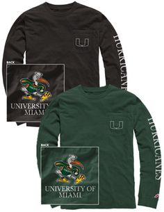 Product: University of Miami Hurricanes Long Sleeve T-Shirt