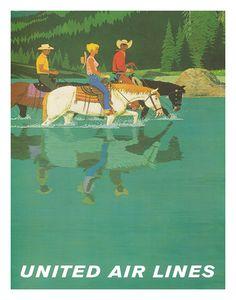 Horseback Riding * United Airlines (1960s)
