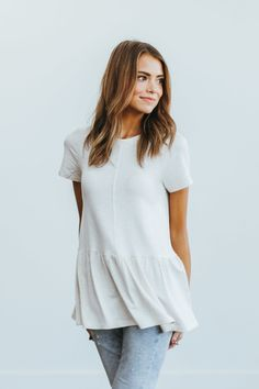 Love this top (different color, I don't like to wear white)