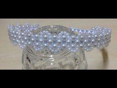 Passo a passo - Tiara de Pérolas Delicada - Tiara de noiva - Entrelaçado de pérolas em tiara #1 - YouTube