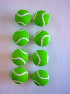 tennis ball knobs - too fun! #tennis #tennishome #DIY