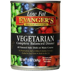 EVANGER'S 776130 12-Pack Gold Vegetarian Dog and Cat Dinner, 12/13-Ounce --- You can find out more about the great product at the image link. (This is an affiliate link and I receive a commission for the sales)