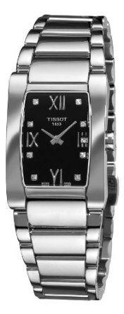 Tissot Womens T0073091105600 T-Trend Generosi-T Black Dial Stainless Steel Watch