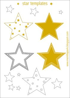 Free printable star templates + 16 last-minute DIY christmas decorations - Weihnachtsdekorationen | MeinLilaPark – DIY printables and downloads