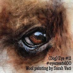 Dog's eye - 2D needle-felted wool art