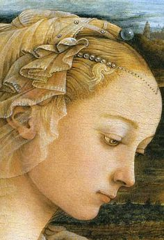 Fra Filippo Lippi,  madonna and child with angels  (detail)
