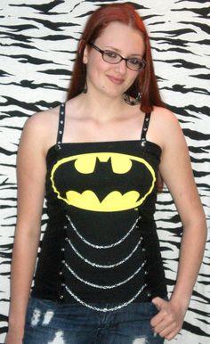 Batman Corset www.missareyl.etsy.com