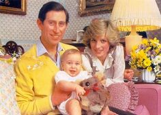 Prince Charles and Princess Diana were photographed with baby Prince William in their home in Kensington Palace.