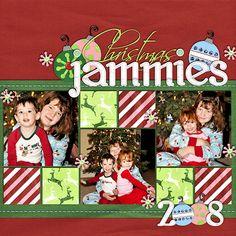 christma jammi, scrapbooking layouts christmas, scrapbook idea, scrapbook layout, scrapbook pages, christma pjs, scrapbooking pages christmas