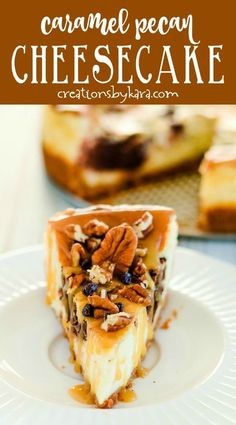 Amazing Turtle Cheesecake Recipe - Creations by Kara Turtle Cheesecake - graham cracker crust, marbled cheesecake filling, caramel sauce, pecans, and chocolate chips make every bite of this cheesecake incredible! -from Creations by Kara Ultimate Turtle Cheesecake Recipe, Turtle Cheesecake Bars, Marble Cheesecake, Pecan Cheesecake, Chocolate Caramel Cheesecake, Caramel Pecan, Chocolate Chips, Graham Cracker Crust, Graham Crackers