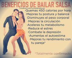 Beneficios de #Bailar #SALSA :)  Síguenos --> https://www.facebook.com/corrientelatina.es