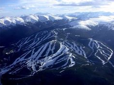 Aerial view of Winter Park and Mary Jane Ski Resorts