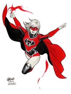 Red Lantern Supergirl by Emanuela Lupacchino Comic Art