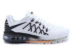 premium selection b32ab 393f2 Nike Air Max 2015 Chaussures De Running Nike Pas Cher Pour Homme Noir Blanc  698902-ID3