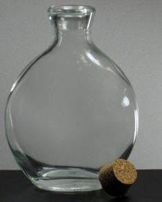 Cork Top Bottles Oval Bottles 4-5/8 Clear Glass (6 bottles) 6 for $4.74/ $.79 each, amazing website for discounts on craft supplies