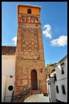 Alminar mudéjar de la iglesia de la Encarnación (siglo XIII)  Árchez  Málaga  Spain