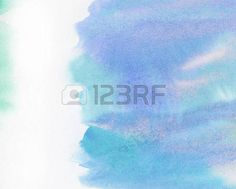Painted clouds: Abstract painted watercolor water, sky or cloud with copy space.