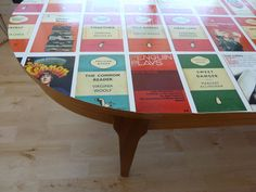 penguin book jacket table