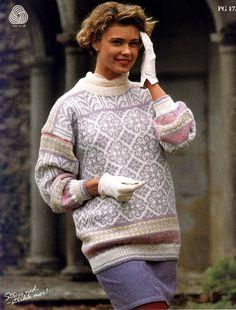 Rosendal Norwegian Knitting, Fair Isle Knitting, Knitted Bags, Knitwear, Knit Crochet, Turtle Neck, Pattern, Sweaters, Knitting Ideas