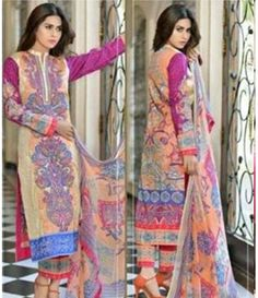Karam Embroidered  Lawn Suits Collection 787_A