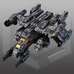 SciFi Dropship 3D Model Game ready .max - CGTrader.com