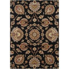 Darby Home Co Bartz Black Area Rug Rug Size: 9' x 13'