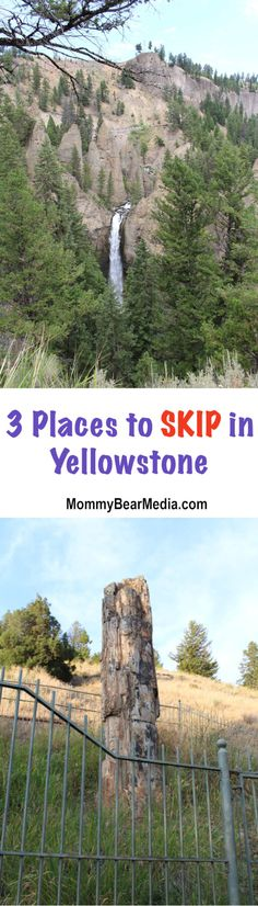 I need to start this post by saying that, in general, our family loves Yellowstone. We went there two years in a row (plus a few other times) and we've seen most of what there is to see there, but some sites are definitely better than others. After our last trip there, I asked my ... Read More about Three Places to Skip in Yellowstone National Park