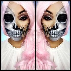 See this Instagram photo by @luxy_leopard • Halloween, fxmakeup, skeleton, face paint, special effects makeup, desiperkins inspired