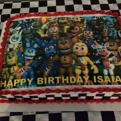 Five Nights At Freddy's World Cake, Five Nights At Freddy's World Edible Topper, FNAF World Cake