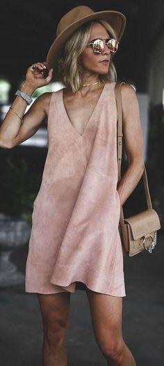 Suede dress.