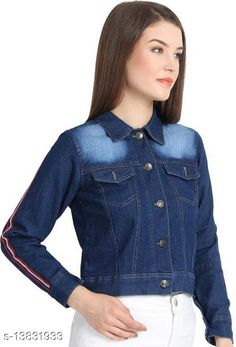 Jackets Comfy Ravishing Women Jackets & Waistcoat Fabric: Denim Sleeve Length: Long Sleeves Pattern: Solid Sizes:  S (Bust Size: 34 in, Length Size: 20 in)  XL (Bust Size: 40 in, Length Size: 20 in)  L (Bust Size: 38 in, Length Size: 20 in)  M (Bust Size: 36 in, Length Size: 20 in)  Country of Origin: India Sizes Available: S, M, L, XL   Catalog Rating: ★4 (432)  Catalog Name: Trendy Fashionista Women Jackets & Waistcoat CatalogID_2729986 C79-SC1023 Code: 992-13831933-096