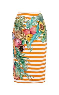 Shop Aceto Hand-Painted Silk Skirt by Stella Jean - Moda Operandi