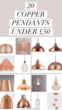 Suspended Lampholder – Iconic Lights, Vintage Pendant Copper Light – Wilko, Copper Galley Easy Fit Pendant Light – Dunelm, £… - ALL ABOUT Copper Lights Kitchen, Copper Pendant Lights, Copper Lighting, Vintage Lighting, Pendant Lighting, Living Room And Kitchen Design, Interior Design Living Room, Copper Bedroom, Donia