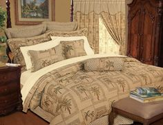 9 Piece King Tapestry Palm Bedding Comforter Set ** Read more reviews of the product by visiting the link on the image. (This is an Amazon Affiliate link and I receive a commission for the sales)