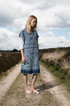 Sea Resort 2016…This is a bleach pattern on indigo! Marvelous.