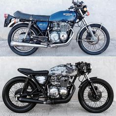 Honda CB400 1977-2017 by @mat_giova Before and after. What do you think? #motorcycle #bike #custom #ride #epidemicmotors #epidemic_motors #ride_like_hell #instamoto #stocksucks #artist #builtnotbought #miami #saint_motors #saintmotors #kustom #kulture #caferacer #bratstyle #musicians #texas #motos #filmmaker #filmmaking #movie #dj #producer #writer #art #カフェレーサー