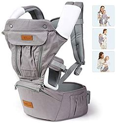 amzdeal 9 in 1 Baby Carrier- Adjustable Baby Carrier with Hip Seat, Breathable Mesh, Ergonomic Waist Stool, Front and Back Carry for Newborns, Toddler 8-33lbs, Perfect for Shopping Hiking Travel : Baby