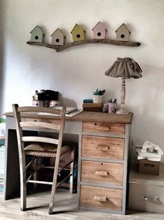 87 ideas for gray boy's room – room decoration - DIY Kinderzimmer Ideen Casa Hygge, Grey Boys Rooms, Boy Rooms, Deco Kids, Rustic Desk, Wooden Desk, Branch Decor, Home And Deco, Little Houses