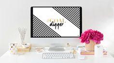 FREE #goaldigger Digital Desktop Wallpaper