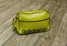 vintage 70s Adidas bag lime green Made in Yugoslavia