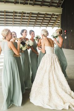 ALine Mint Green Chiffon Long Bridesmaid Dress 1834 is part of Hamptons wedding Attention Please! When you purchase the dress, we will email to you within 24 hours to confirm the order and the siz - Bridesmaids And Groomsmen, Wedding Bridesmaid Dresses, Mint Green Bridesmaids, Bridesmaid Color, Bride Maid Dresses, Bridal Dresses, Wedding Gowns, Bohemian Bridesmaid, Wedding Tuxedos