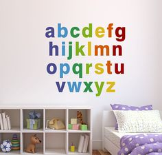 Brighten up your room with these Alphabet Wall Decals! Our custom removable/reusable fabric Alphabet Wall Decal set will be a great addition to any kids room or classroom! Alphabet Wall Decals, Childrens Wall Decals, Abc Wall, Vinyl Wall Decals, Wall Stickers, Bedroom Wall, Kids Bedroom, Alphabet Pictures, Vinyl Quotes