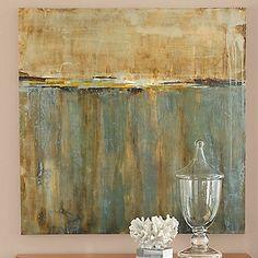 Beautiful seaside inspired art would look perfect above the buffet. Ballard Designs Blue Reflections Print at HSN.com. #HSN #HouseBeautiful
