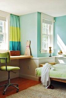 Little Girls Bedroom - contemporary - kids - burlington - by Peregrine Design Build.  color combo for Rachel's room?