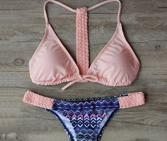 Coral Braided Bikini (Swim Suit)